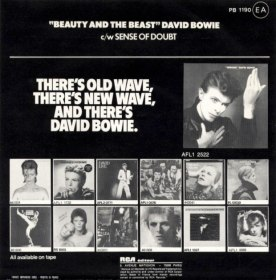 David Bowie - Beauty And The Beast - France single back cover