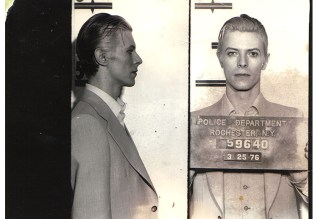 David Bowie police mugshot taken at Rochester City Court in 1976