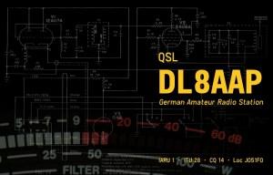 QSL-Karte DL8AAP (2014)