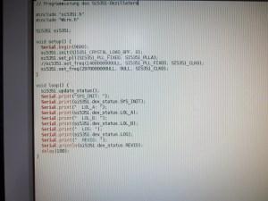 Arduino Code für den Si5351