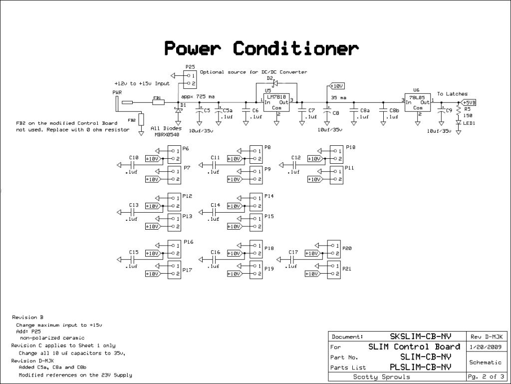 MSA Control Board - Power Conditioner