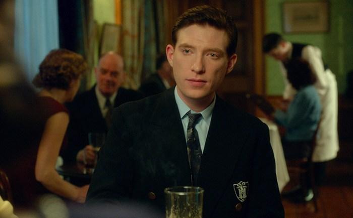 "Domhnall Gleeson as ""Jim"" and Saoirse Ronan as ""Eilis"" in BROOKLYN"