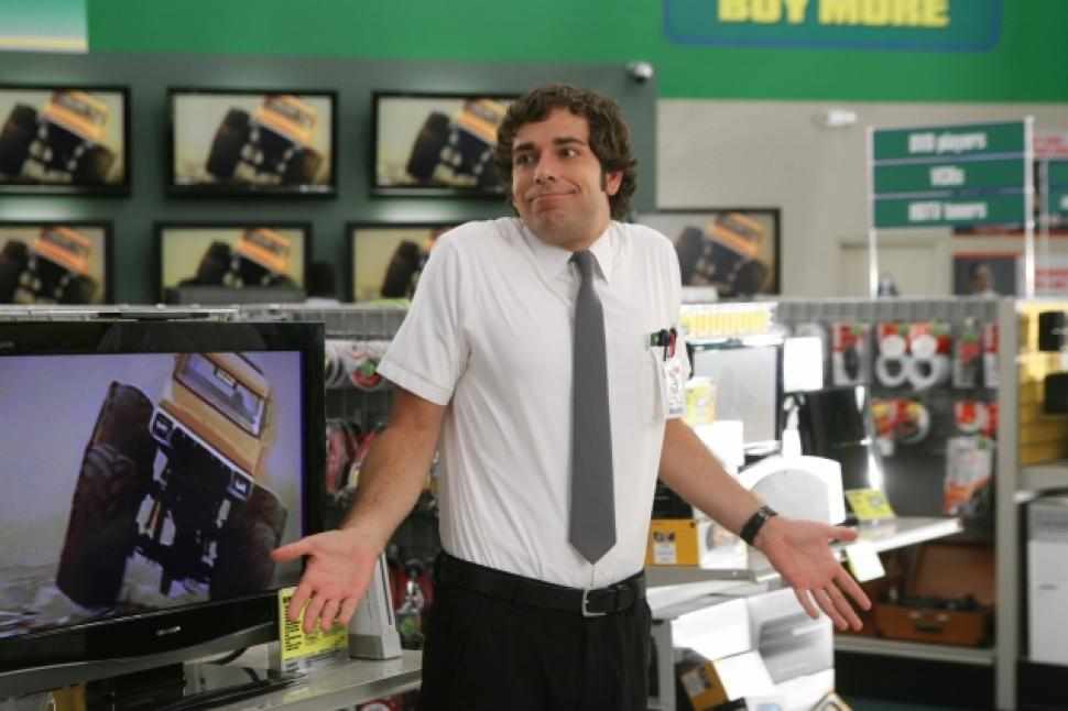 Image result for chuck at buy more computer