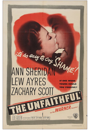 The Unfaithful one sheet