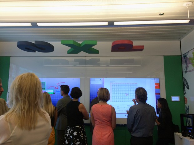 Dirrt's showroom has an excellent color infused classroom setup