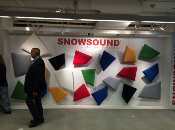 Acoustic panels at Snowsound