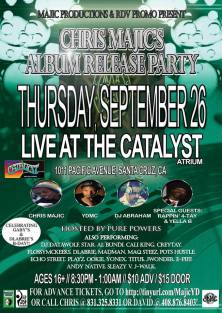 THURS 9/26 in Santa Cruz - DLabrie & Gaby's Bday party/ Chris Majic release Party w/ Guest Rappin 4-tay, Yella B, Playz and more