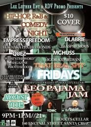 FRI 8/9 in Santa Cruz - Leo Bash Pajama Jam feat. YDMC,DLabrie ,That Real Spit Every 2nd Friday