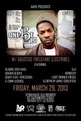 3/29 in Nevada City CA- DLabrie performing with One Be Lo