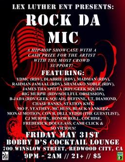 FRI 5/31 in Redwood City - Whole RonDavoux Crew performs live at ROCK DA MIC