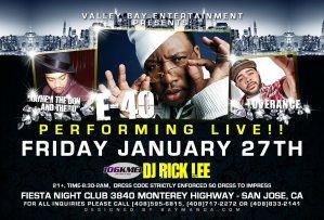 1/27/12 - E-40 Live at Club Fiesta + LoveRance,YDMC,DLabrie,Mayhem,Boogie Womack