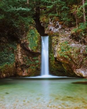 plakat fotograficzny Słowenia wodospad Grmecica
