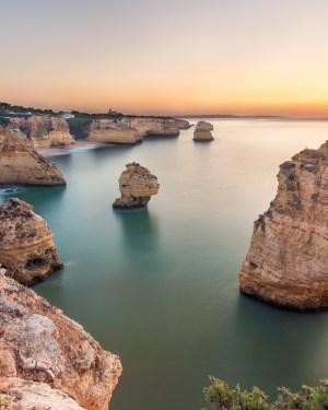 plakat fotograficzny portugalia algarve praia da marinha