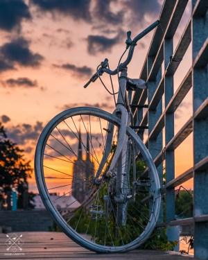 plakat fotograficzny wrocław rower