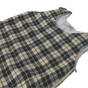 saquinho de dormir infantil xadrez preto