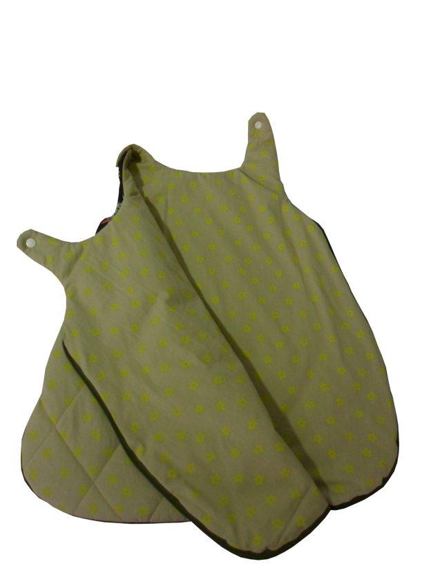 saquinho de dormir infantil semi aberto estampado verde