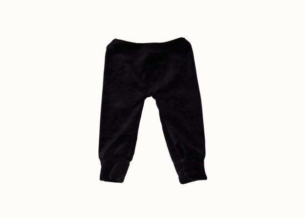 calça de bebê em plush preto