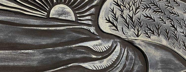 Moffat Beach Carved Surfboard