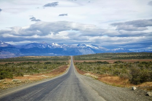 One's first view of Torres del Paine en route from Punta Arenas