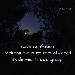 naive confusion darkens the pure love offered inside fear's cold grasp