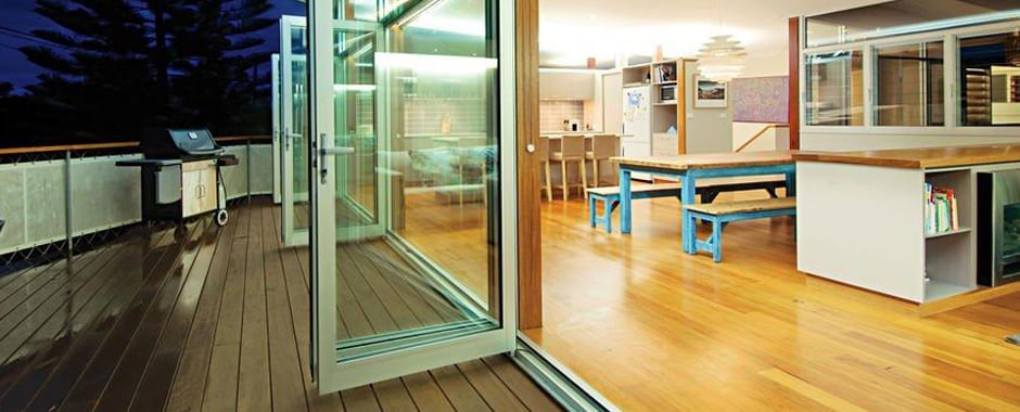 A Bi-fold Door opening out onto a deck