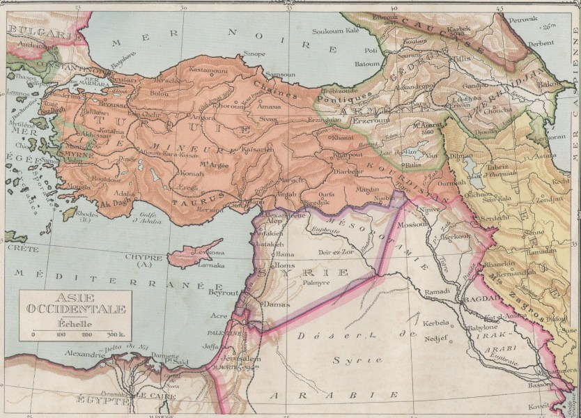 Historical Maps of the Middle East Middle East  1918 1940      Asie occidentale  1920