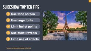 Mark Basse's Slideshow Top Ten Tips