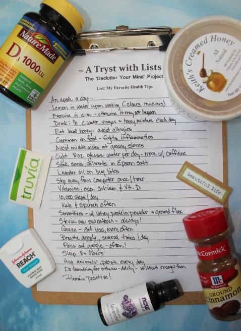 Favorite Health Tips