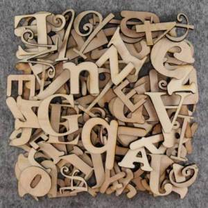25cm high individual wooden letters