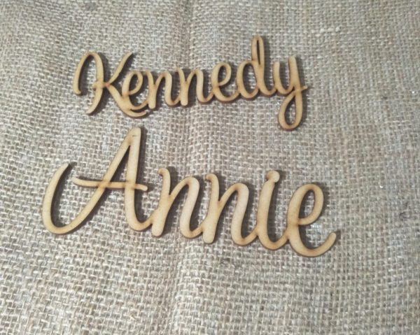 Personalised Custom Cut Names 3