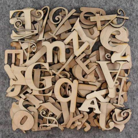 60cm High Individual Wooden Letters Dl Laser Designs