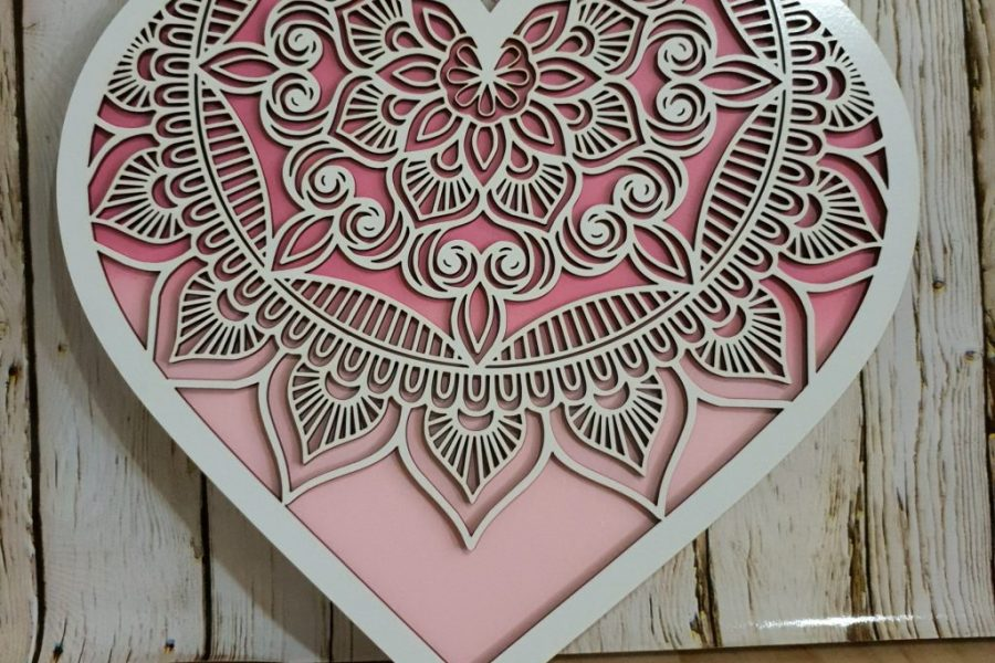 Love Heart Design Wall Art Brisbane