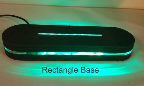 rectangle led light base