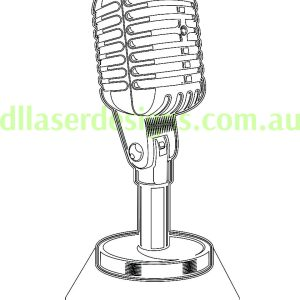 Retro Microphone 3D Illusion Vector File