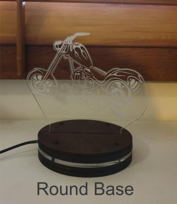 round led light base