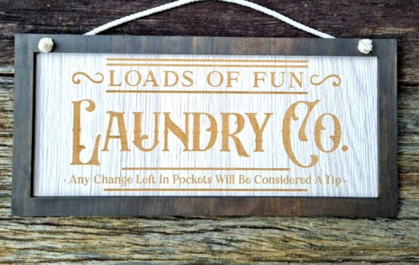 Laundry Co Wall sign
