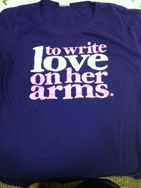 To Write Love on Her Arms Girls Tee on Storenvy