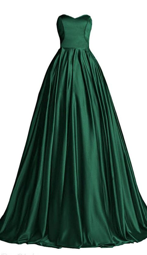 Hunter Green Ball GownSweetheart Bodice Prom DressCustom