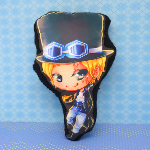 coussin peluche cushion plushie 20 cm sabo one piece sold by saya s store on storenvy
