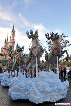 Santa's (almost) new sleigh pulls into Disneyland