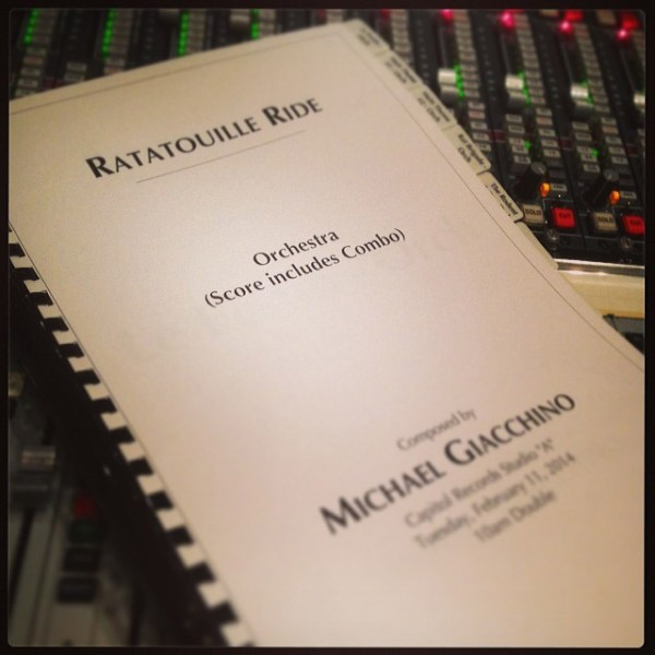 Michael Giacchino, Ratatouille ride, Disneyland Paris