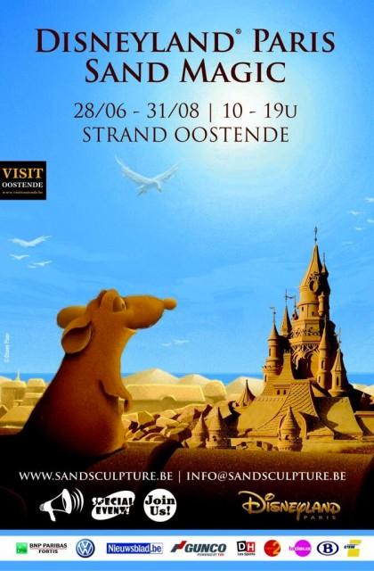 Disneyland Paris Sand Magic - Sand Sculpture Festival Belgium 2014