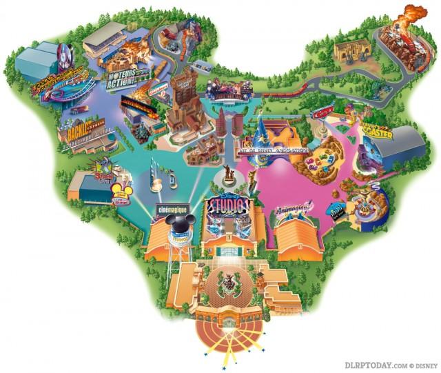 Walt Disney Studios Park 2007 Map Disneyland Paris