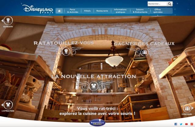 Ratatouille: The Adventure official Disneyland Paris mini-site website ride attraction