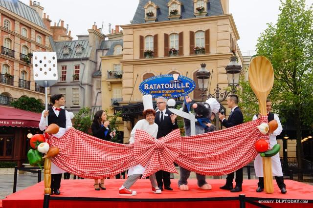 Ratatouille Disneyland Paris Opening Day Inauguration Ceremony