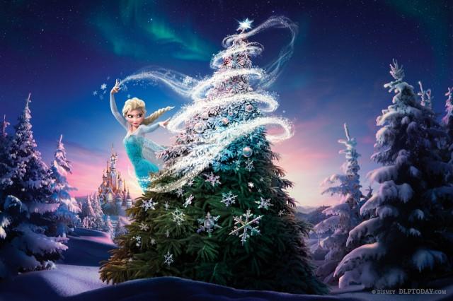Christmas at Disneyland Paris featuring Disney's Frozen, Anna and Elsa