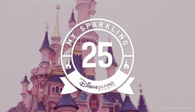 Disneyland Paris 25th Anniversary decorations 2017
