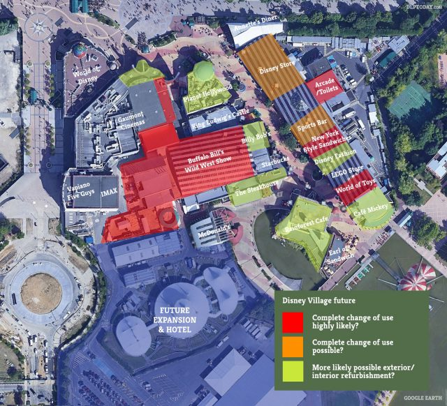 Disney Village future map: what's most likely to change?