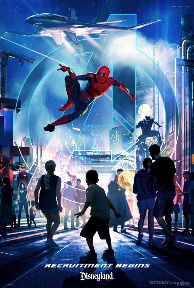 Disney Parks Marvel land teaser poster: Disneyland Resort recruitment begins