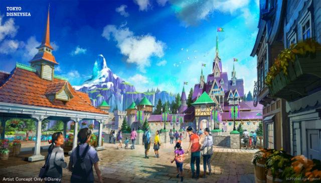 Tokyo DisneySea Fantasy Springs Frozen concept art